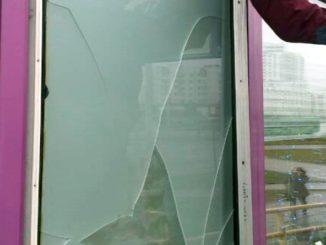 замена стекла и стеклопакета непрозрачного,с матовым стеклом